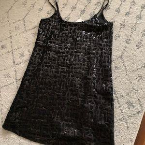 Black Sequin Devlin Dress Size Medium